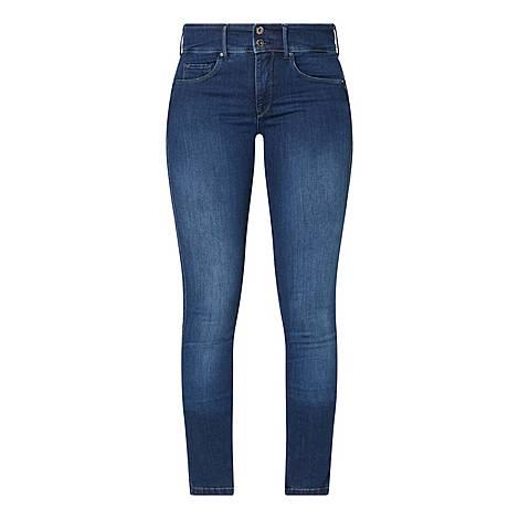 Secret High Waisted Slim Jeans, ${color}