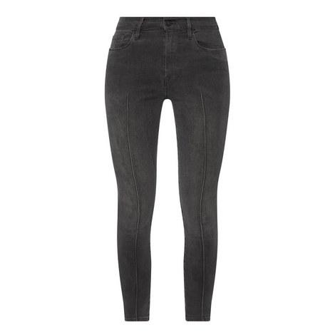 Ali High-Rise Skinny Cigarette Pintuck Jeans, ${color}