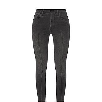 Ali High-Rise Skinny Cigarette Pintuck Jeans