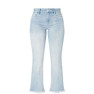 Cropped Mini Bootcut Jeans