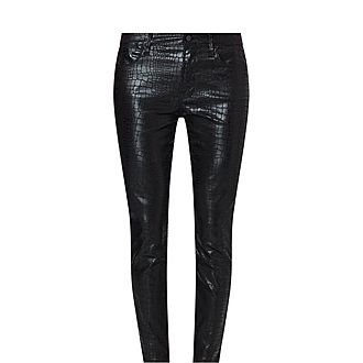 Le Sylvie Croc Embossed Trousers