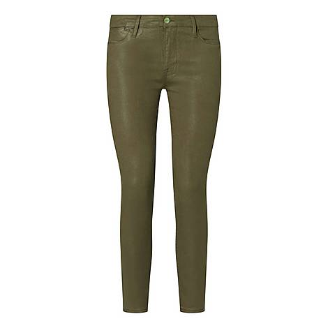 Le High Coated Skinny Trousers, ${color}