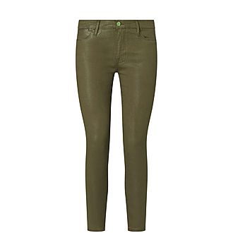 Le High Coated Skinny Trousers