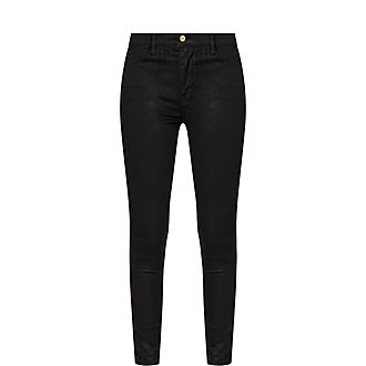 Coated Le High Skinny Jeans