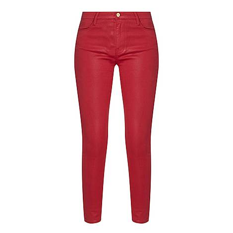 Coated Le High Skinny Jeans, ${color}