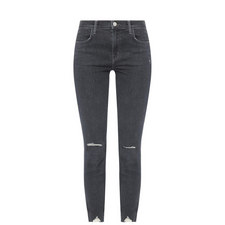 Alana High Rise Distressed Crop Jeans