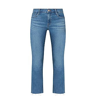 Serena Cropped Bootcut Jeans