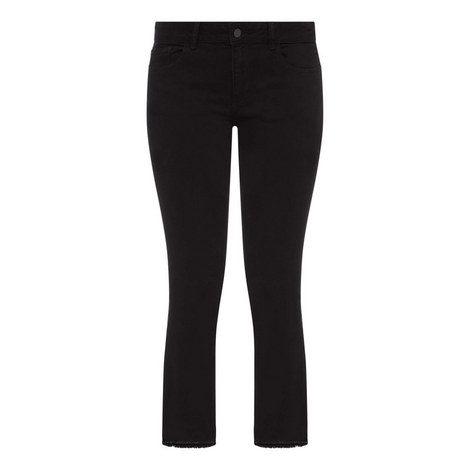 Lara Cropped Flared Jeans, ${color}