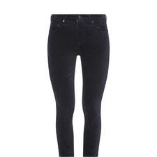 Rocket Cropped Velvet Skinny Jeans