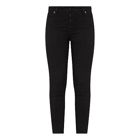 Aubrey Exposed Button Slim Jeans, ${color}