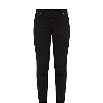 Aubrey Exposed Button Slim Jeans