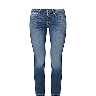 Roxanne Mid Rise Cropped Jeans