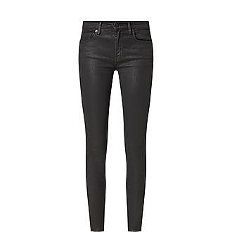 Skinny Coated Illusion Jeans