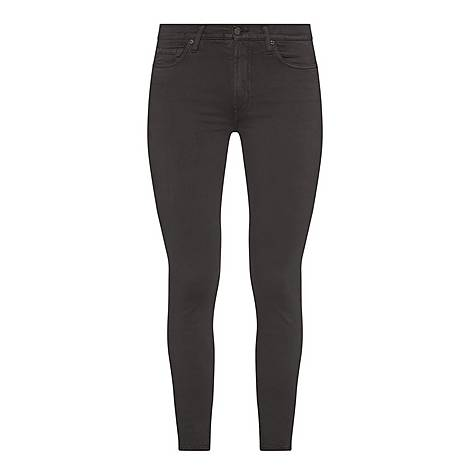 High-Waisted Cropped Skinny Jeans, ${color}