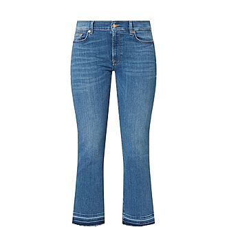 Unrolled Cropped Trousers
