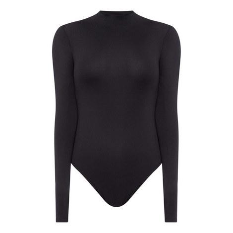 Mock Neck Bodysuit Top, ${color}