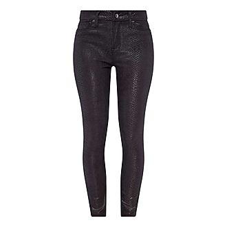 Good Legs Snakeskin Denim Jeans
