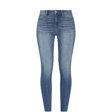 Raw Edge Mid Rise Jeans