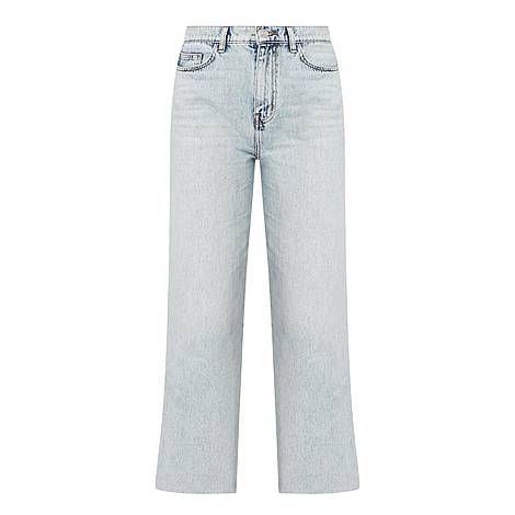 Femme Washed Cropped Jeans, ${color}