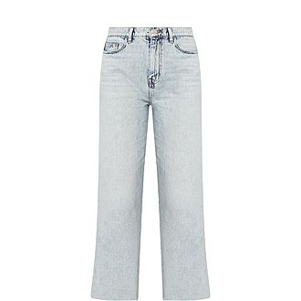Femme Washed Cropped Jeans