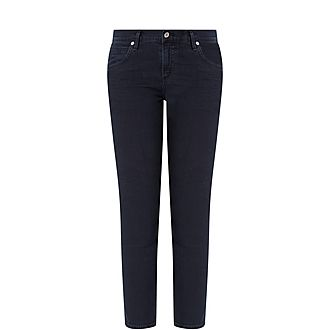 Elsa Mid Rise Cropped Jeans