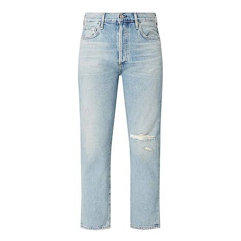 McKenzie Curved Straight Jeans, ${color}