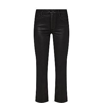 Claudine Coated Cropped Jeans