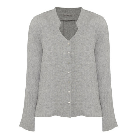 Button-Up Long Sleeve Top, ${color}