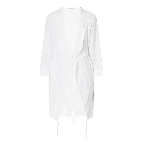 Linen Tie Waist Coat, ${color}