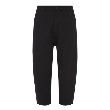 Cropped Wool Trousers, ${color}