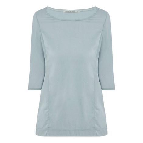 Silk Jersey Blouse, ${color}