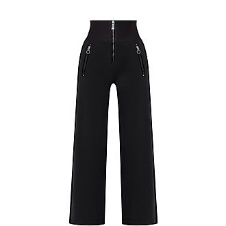 Equity Wide Leg Cropped Trousers