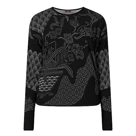 Perchance Floral Panel Sweatshirt, ${color}
