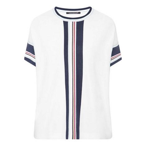 Striped Trim Sweater, ${color}