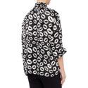 Lips Print Silk Shirt, ${color}