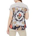 Striped Rear Print T-Shirt, ${color}