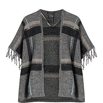 Wool Check Cape