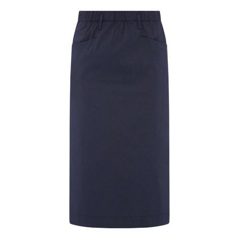 Cotton Pencil Skirt, ${color}