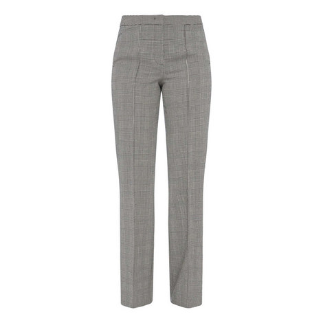 Glen Check Fringed Trousers, ${color}