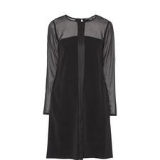 Long Sleeve Semi-Sheer Dress