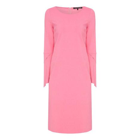 Draped Sleeve Dress, ${color}