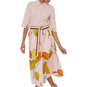 Contrast Stripe Dress, ${color}