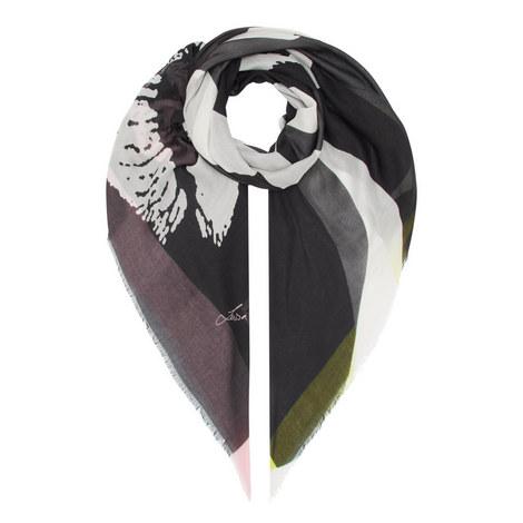 Patterned Logo Scarf, ${color}