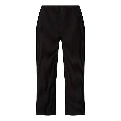 Cropped Ribbed Trousers, ${color}