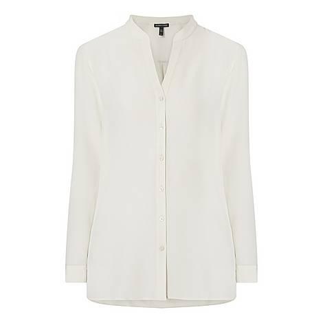 Silk Buttoned Blouse, ${color}