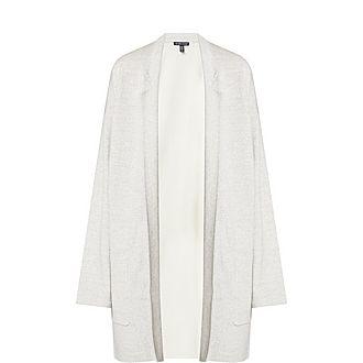 Merino Wool Notch Collar Cardigan