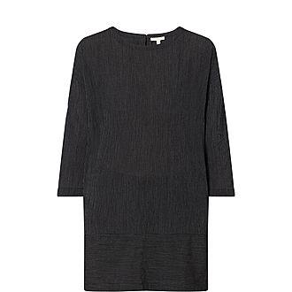Mini Stripe Crepe Dress
