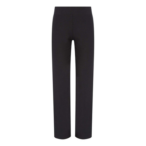 Stretch Crepe Straight Fit Trousers, ${color}