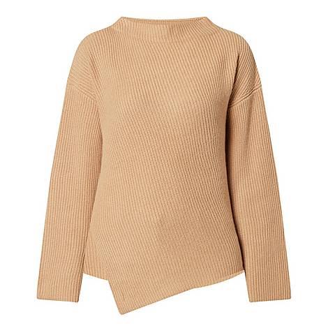 Faurora Asymmetrical Cashmere Sweater, ${color}