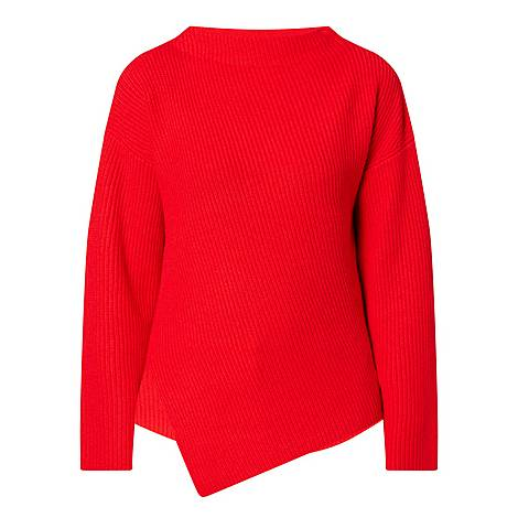 Faurora Asymmetrical Cashmere Sweater, ${color}